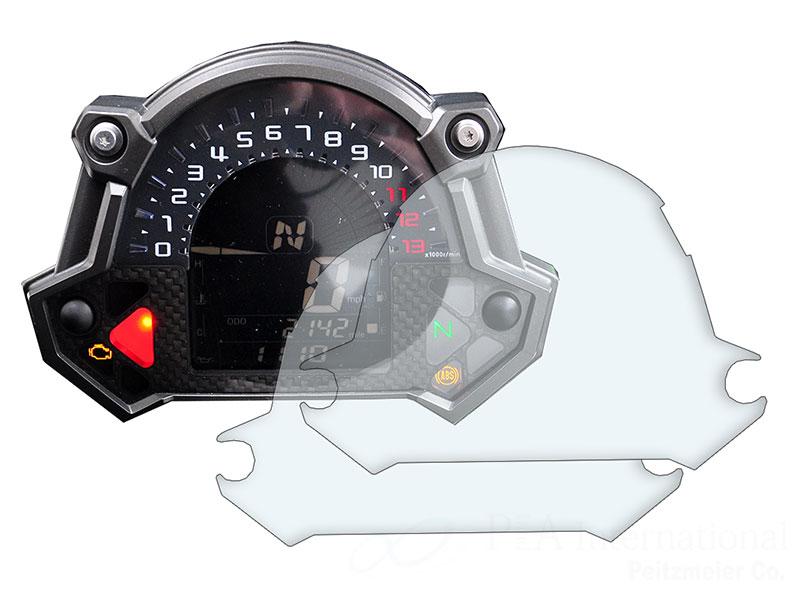 メーターパネルプロテクションフィルム & 作業用ツールセット for Kawasaki