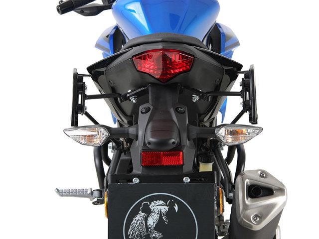 ヘプコ&ベッカー 正規品 サイドソフトケースホルダー(キャリア)「C-Bow」 Kawasaki ニンジャ125 / Z125