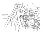 ヘプコ&ベッカー 正規品 エンジンガード SUZUKI GN125 クローム