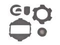 ワンダーリッヒ F650/700/800GS/F800R/S/ST モーターパッドセット Carbon Style