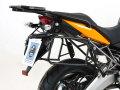 ヘプコ&ベッカー 正規品 Kawasaki Versys ('07-'09) サイドケースホルダー(キャリア)(Lock it system) ブラック