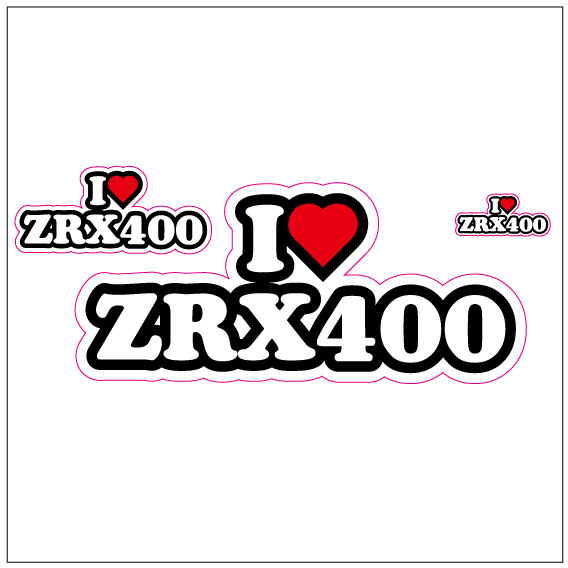 I LOVE ZRX400 ステッカー