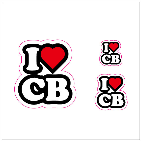 I LOVE CB  ステッカー