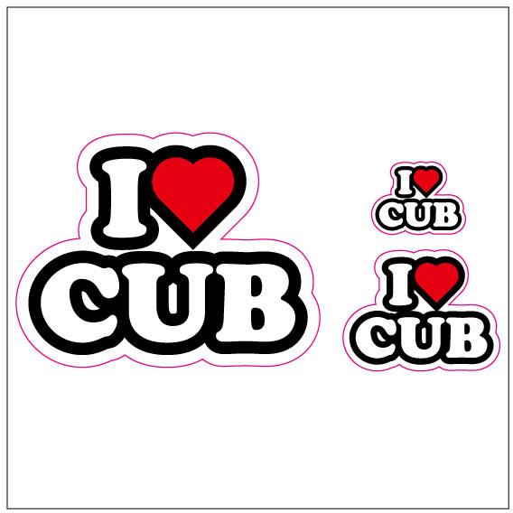 I LOVE CUB  ステッカー