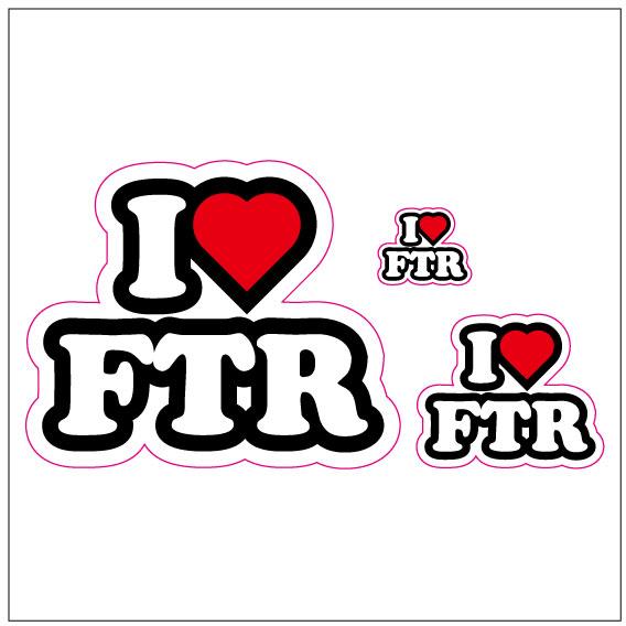 I LOVE FTR  ステッカー