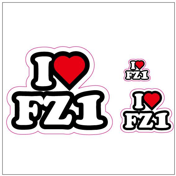 I LOVE FZ-1 ステッカー