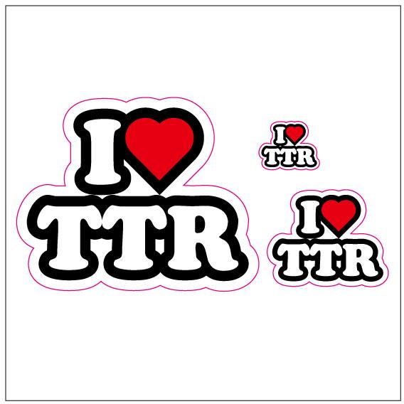 I LOVE TTR  ステッカー