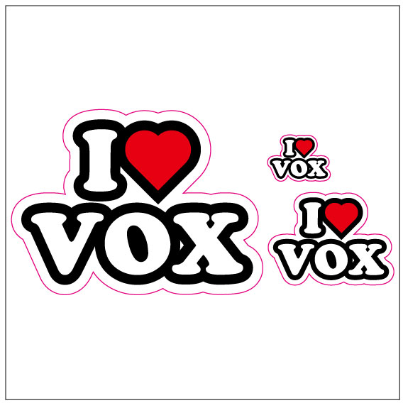 I LOVE VOX  ステッカー