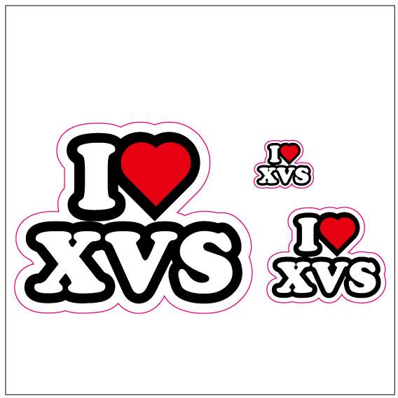 I LOVE XVS  ステッカー