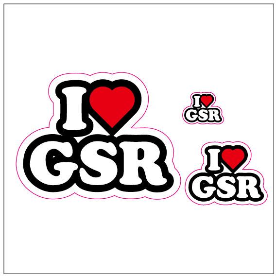 I LOVE GSR  ステッカー