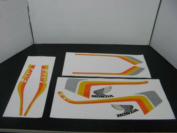 CBX550F タイプ ラインステッカーセット (オレンジ/黄)