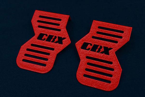 CBX400F ロゴイリ ちぢみ塗装 キャブサイド カバー (CBXロゴ)(レッド)