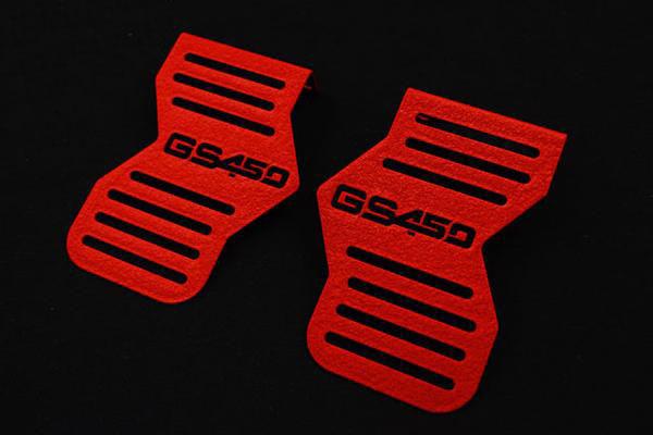GS400 ちぢみ塗装 ロゴイリ キャブサイド カバー (450ロゴ)(レッド)