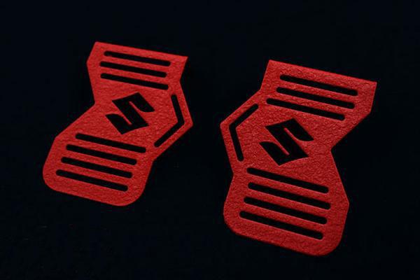 GS400 ちぢみ塗装 ロゴイリ キャブサイド カバー (Sマークロゴ)(レッド)