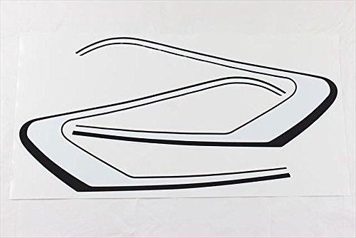 GT380 純正タイプラインステッカーセット(白/黒ライン)