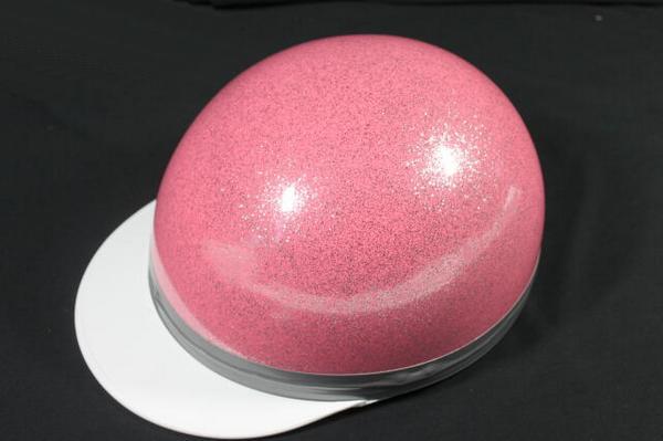 ドリーム製 コルクハンキャップ/ヘルメット メタルピンク