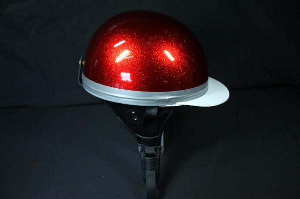 ドリーム製 コルクハンキャップ/ヘルメット メタルレッド