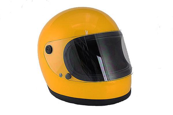 ビンテージフルフェイスヘルメット 70S イエロー