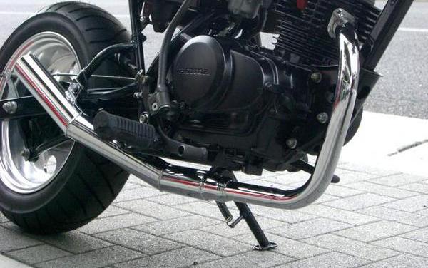 APE50 エルサウンド ショート管 メッキ エイプ50