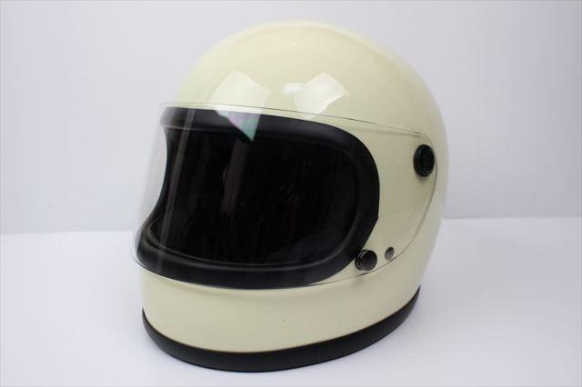ビンテージフルフェイスヘルメット 70S アイボリー