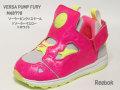リーボック☆ベビースニーカー【Reebok】バーサ ポンプ フューリー (VERSA PUMP FURY) / ピンク×スチール×イエロー×ホワイト / M48778