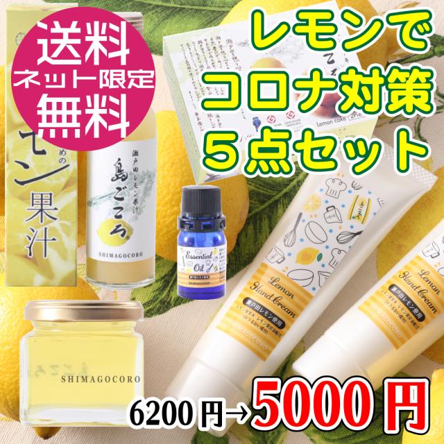 【送料無料】レモンでコロナ対策5点セット