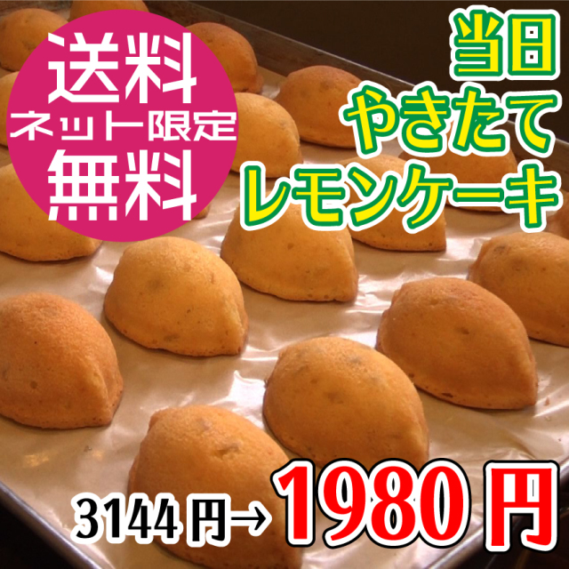 【9/29発送】当日焼きたてレモンケーキ8個セット(消費期限:製造日より3日)/コンパクト便