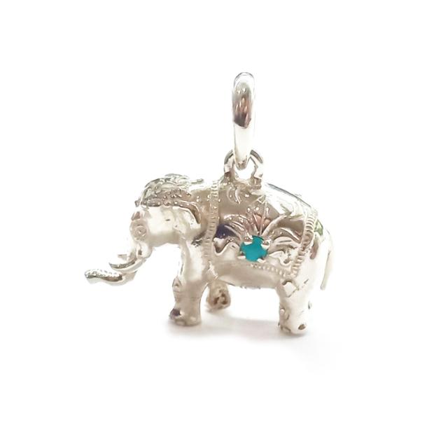ELEPHANT+birthstone チャーム