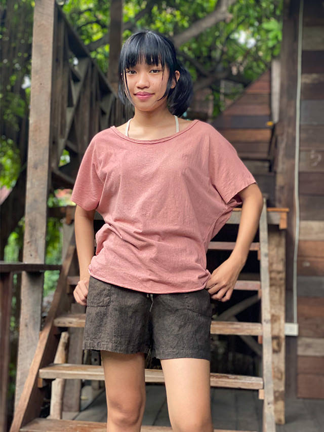asana HEMP100% ショートパンツ・草木染め