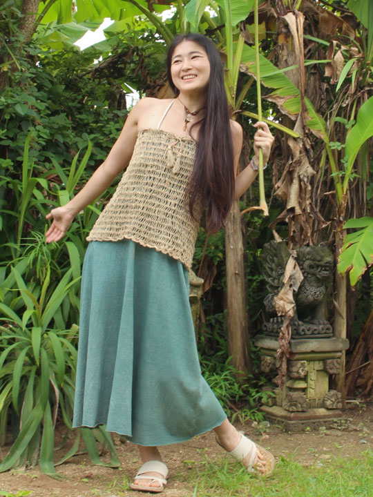asana カギ編み 2WAYスカート