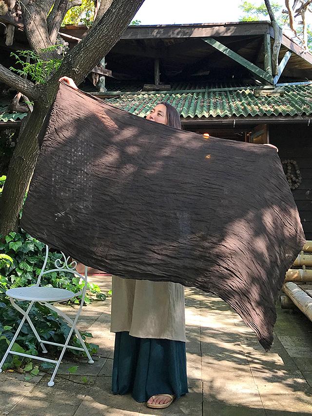 asana HEMP100% ガーゼ ショール・草木染め