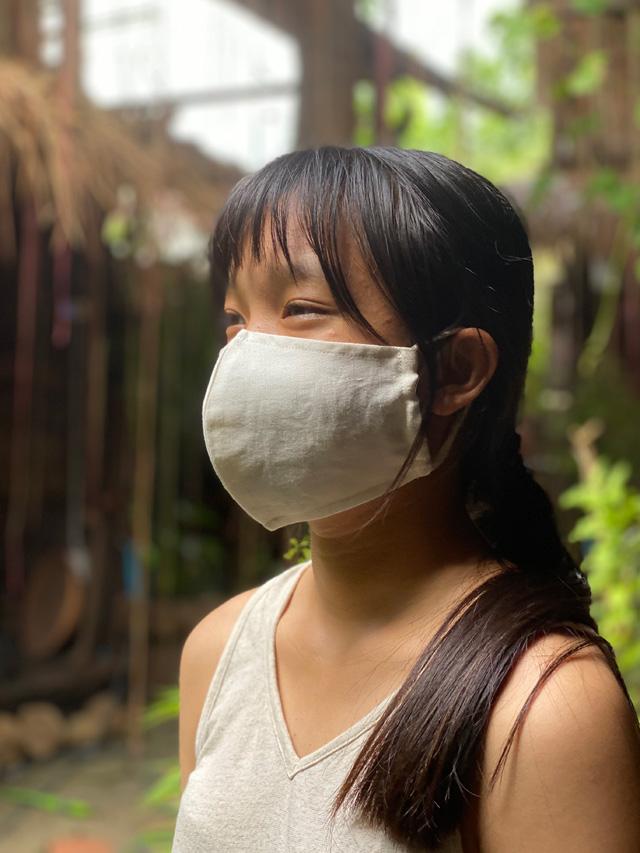 asana HEMP100% ループ 夏マスク
