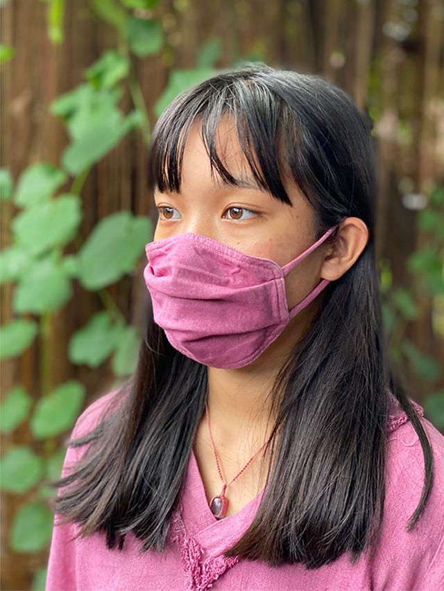 asana ヘンプコットン やわらか 薄手 布マスク・草木染め