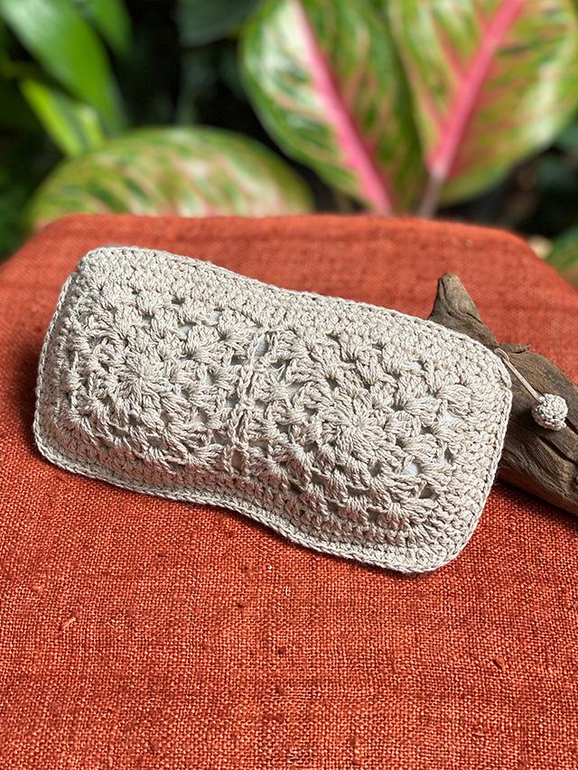 HEMP100% 手編み 小物ケース