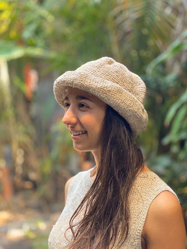 HEMP100% ニット 手編み 帽子