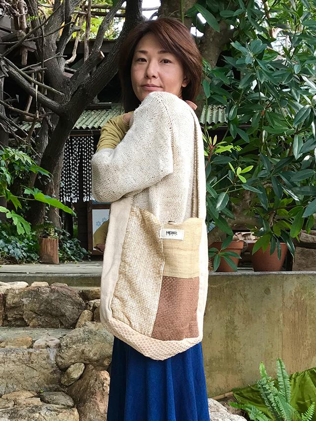 hempThai HEMP100% 手縫いショルダーバッグ