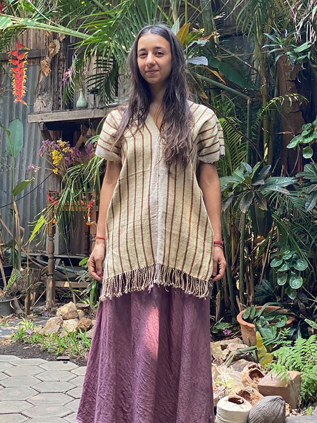 HEMP100% カレン族 手織り 貫頭衣