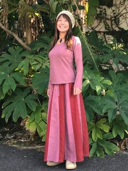 asana HEMP100% MIX 切り替えスカート