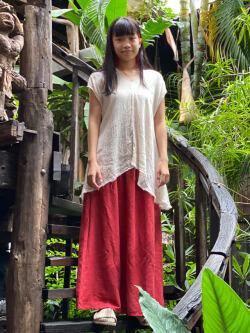 asana HEMP100% 2WAY スカート