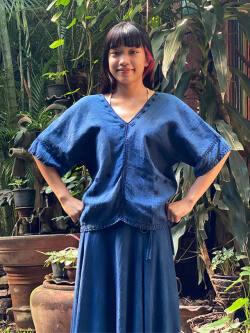 asana HEMP100% 手織り 手縫い 貫頭衣・草木染め (1点もの)