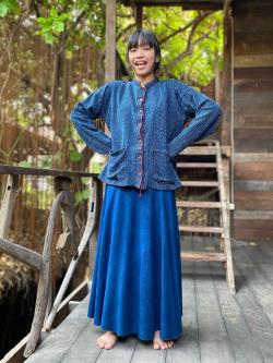 asana HEMP100%手縫い 刺し子 ジャケット