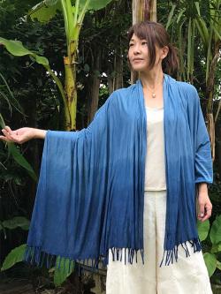 asana 大判ショール・草木染めグラデーション