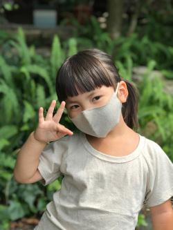 asana KIDS HEMP100% 立体 布マスク・きなり