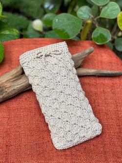asana HEMP100% 手編み 携帯ケース