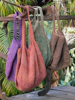 asana HEMP100% 手編み たっぷり ショルダーバッグ