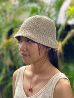 HEMP100% 手編み帽子