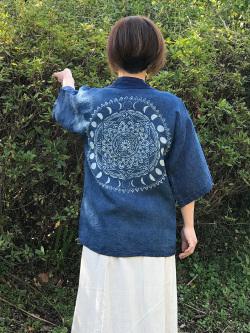 asana x Mandalaya HEMP100% 羽織・藍染め