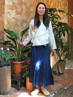 HEMP100% ヤオ族 手縫い 手刺繍 カシュクール カーディガン