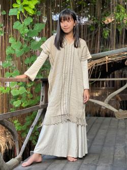HEMP100% 手織り 手縫い 貫頭衣