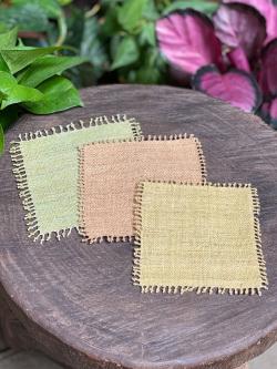 HEMP100% 手織りコースター